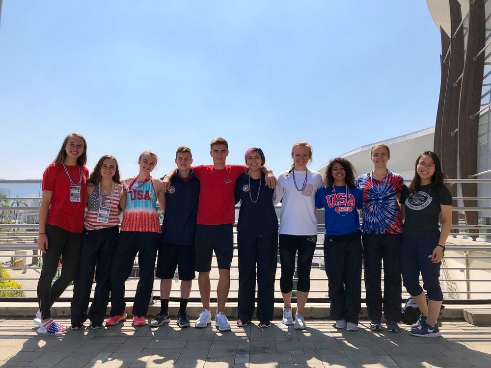All Ten ISKC athletes representing Team USA in Brazil at the Junior Pan American Championships