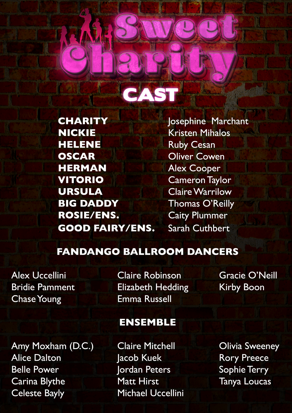Here is it! Congratulations to our cast, we can't wait to get started!