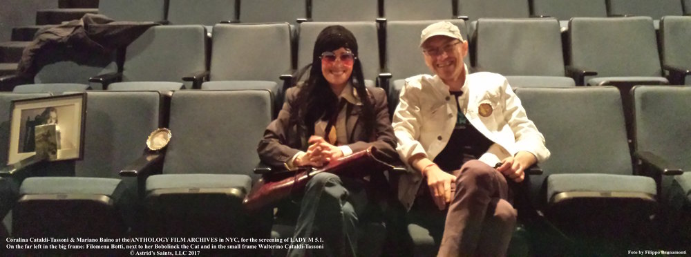 Coralina Cataldi-Tassoni and Mariano Baino at the LADY M 5.1 screening at The Anthology Film Archives May 6th 2017 4.jpg