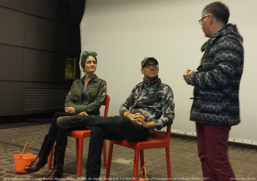 Coralina Cataldi-Tassoni, Mariano Baino, Michele De Angelis at MACRO Oct.2017.jpg