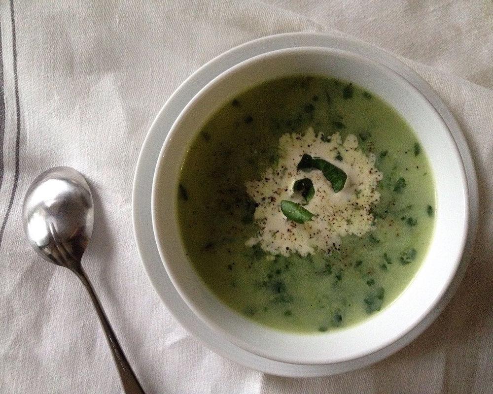 Watercress soup    Photo ©Evie Saffron Strands