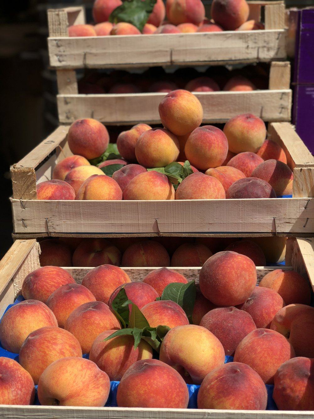 Peaches at Puntarelle&Co