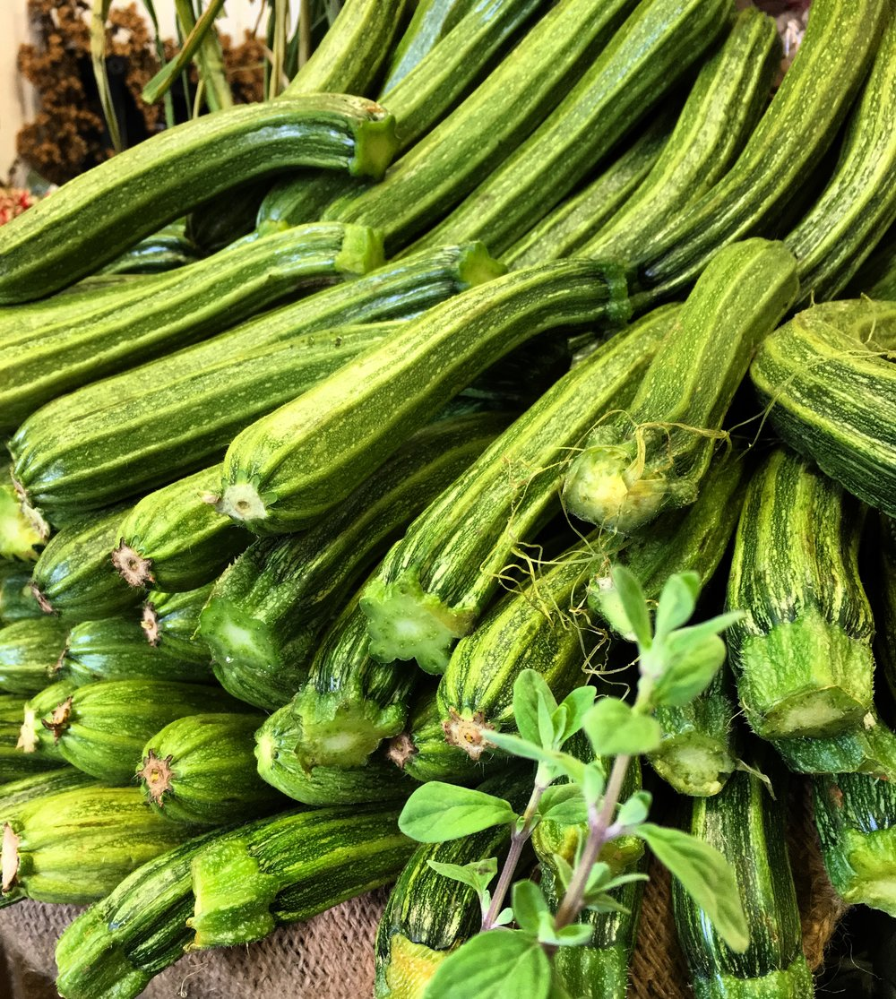 Roman courgettes    Photo © Puntarelle&Co