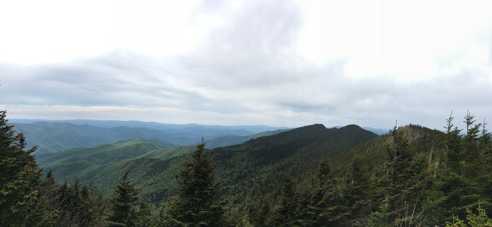 View of the peaks that the Deep Gap trail traverses