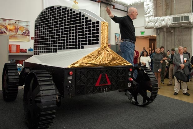 Polaris rover prototype assembled. Photo from engadget.com