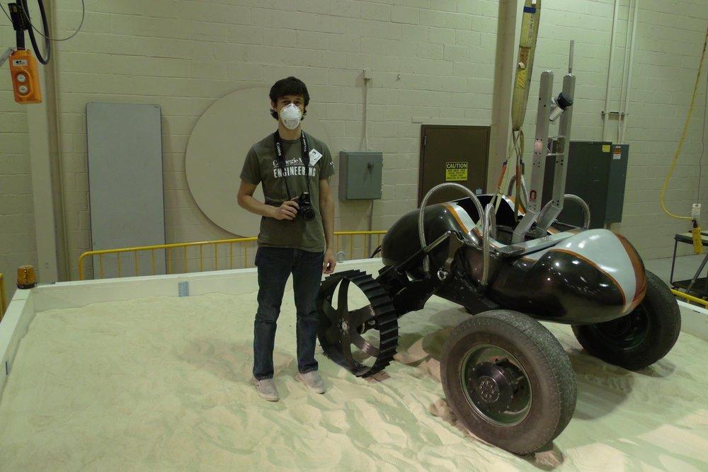 Testing wheel prototypes at NASA Glenn research center