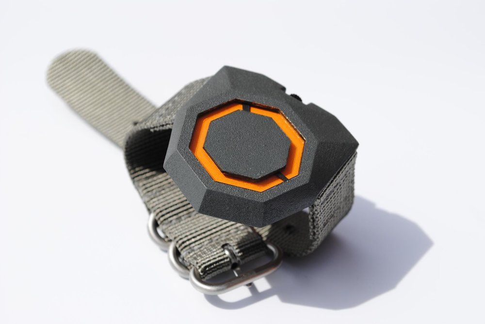 Watch constructed with 3D printed and laser cut components