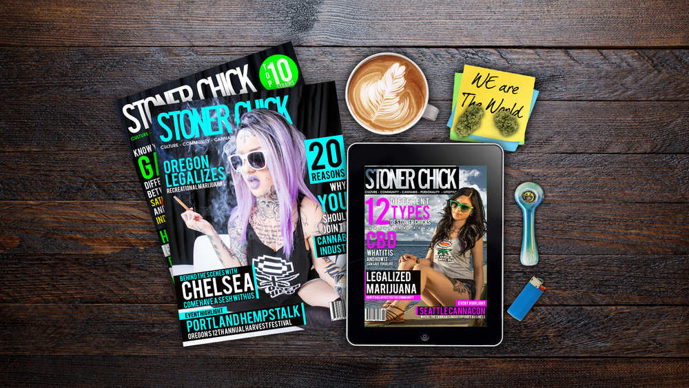 regional & national publications - It's your front row seat tour into the industry, the people behind it and how legalized medicinal marijuana has affected the community. Our Stoner Chick Magazine brings you all the latest news in culture, lifestyle, personality and cannabis business growth.