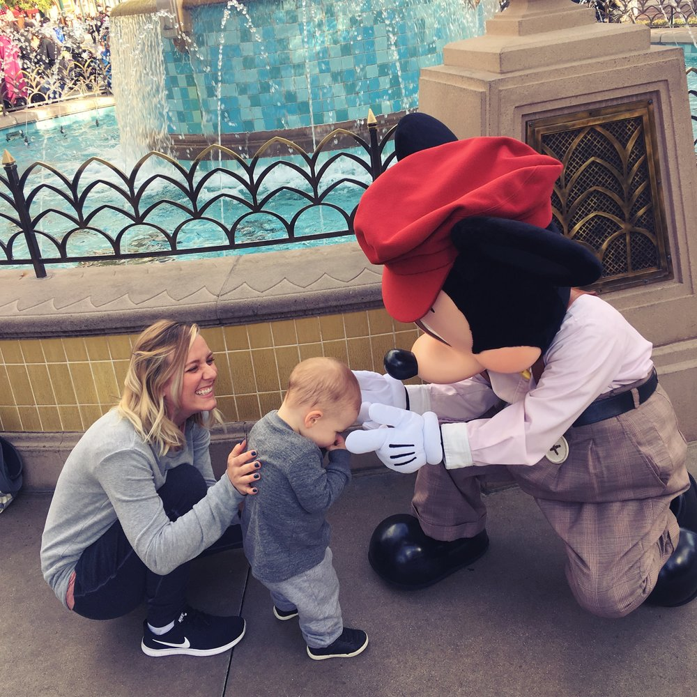 Figured I'd start with an adorable photo of my son embarrassed to meet Mickey. Because OMG!