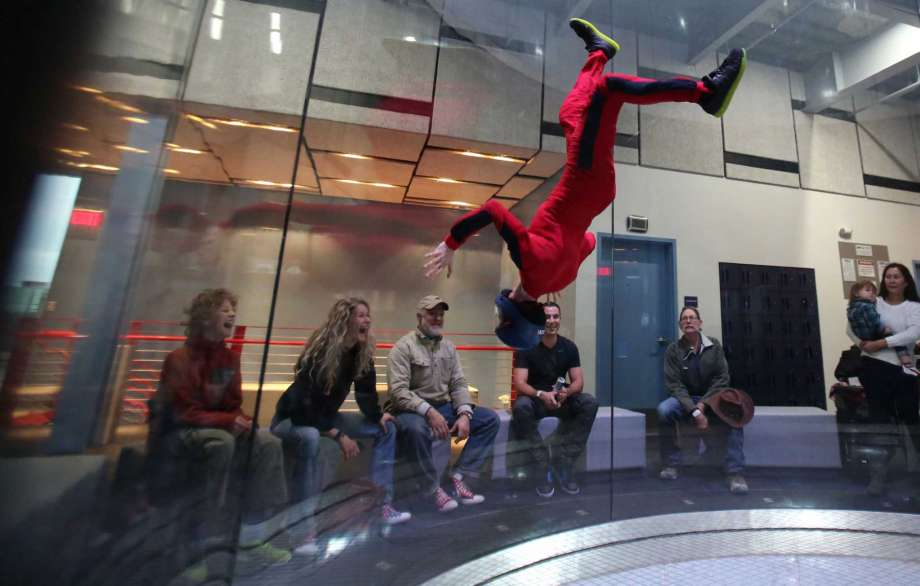 iFLY Indoor Skydiving   The birds may be grounded during the bad weather, but that doesn't mean you have to be, too.    Address:   9540 Katy Frwy.   Phone:   (281) 942-4359   Website:     houston.iflyworld.com