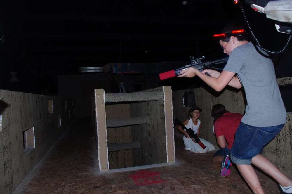 Battlefield Houston   Home in on your inner warrior skills at this indoor tactical laser tag spot.    Address:   11755 W. Little York   Phone:   (713) 409-1990   Website:     battlefieldhouston.com