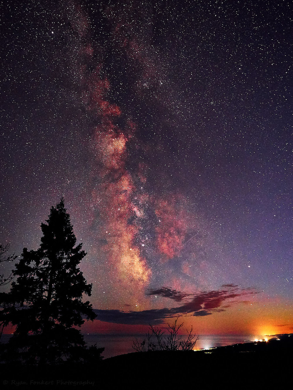 Milky Way Over Lake Superior from Leveaux Mountain