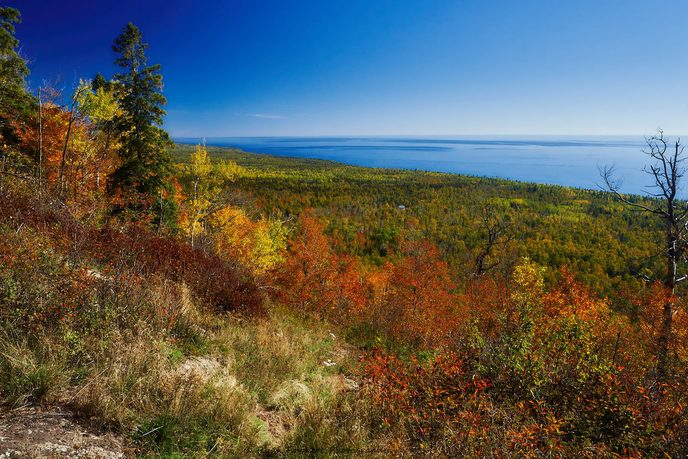 Lake Superior, seen from one of Oberg Mountain's many scenic overlooks.