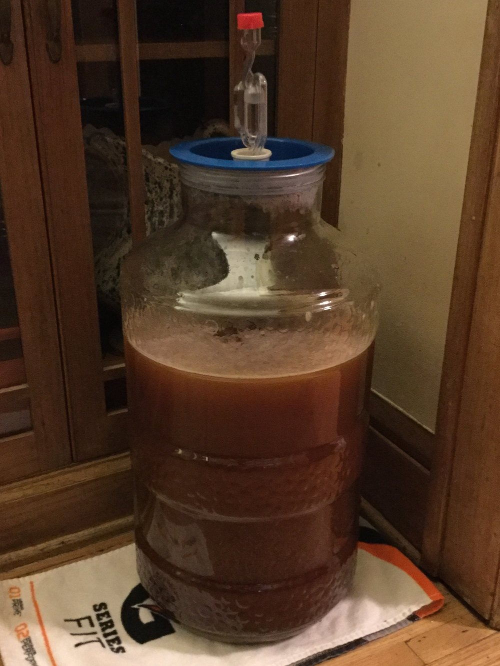 My second batch in the works, a Bavarian Hefeweizen.