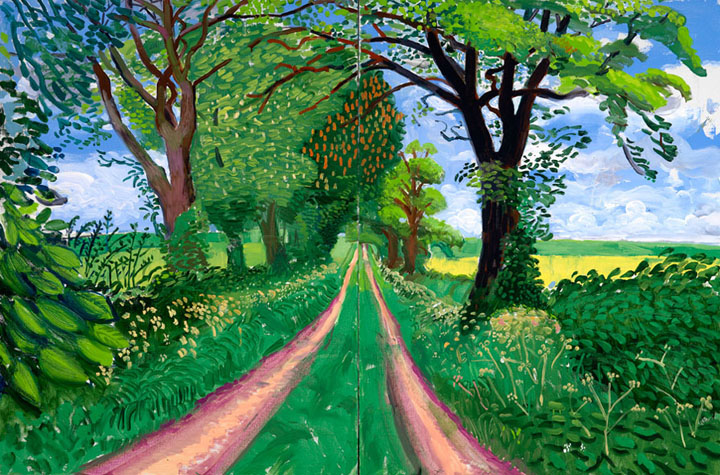 """Late Spring Tunnel"" // David Hockney"