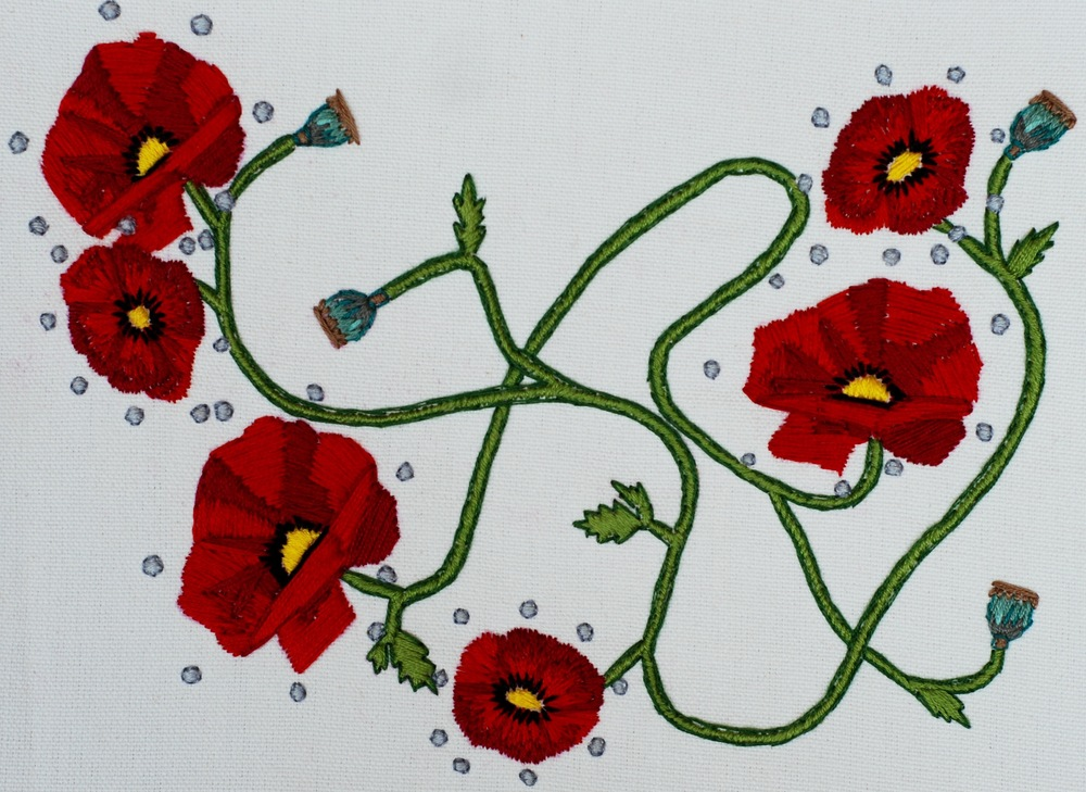 Poppies Hand Embroidery