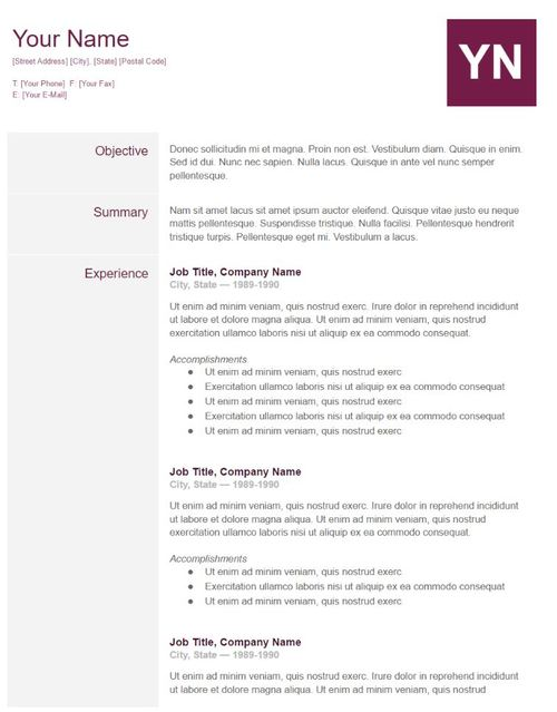 google document template - Should I Use A Resume Template