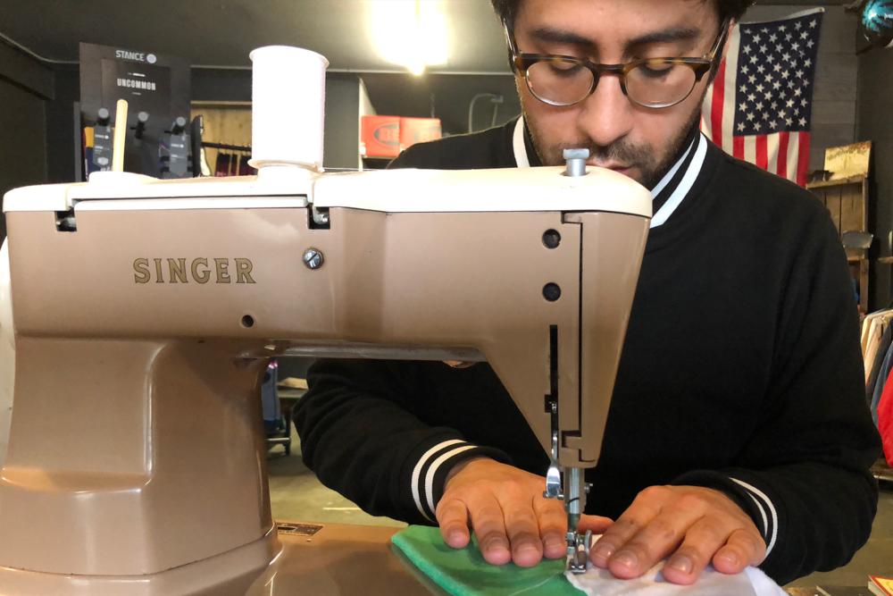 Roberto Hoyos sewing