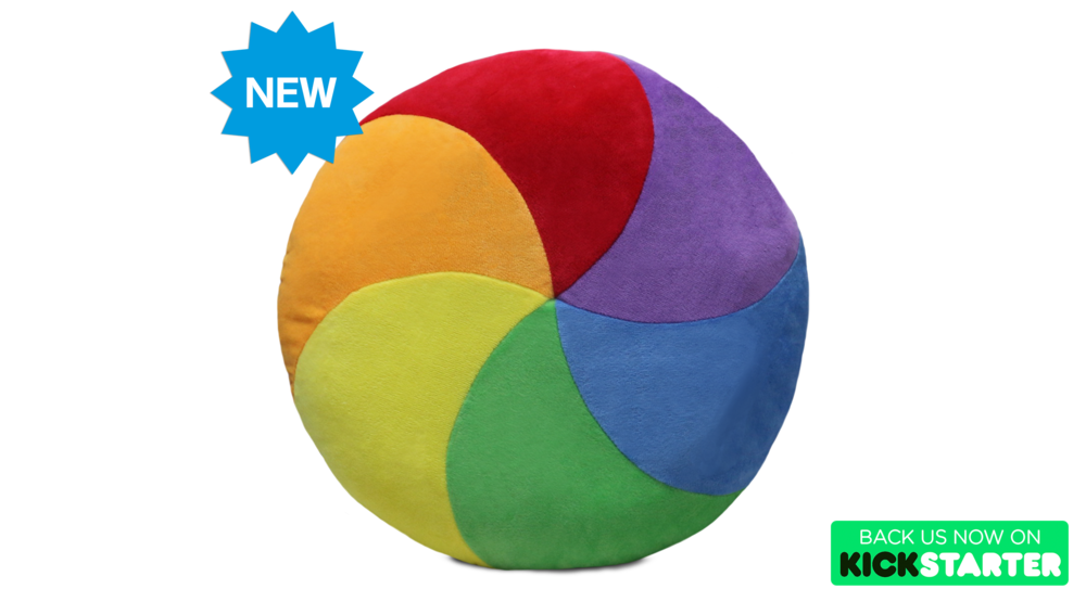 Add $20 to your Kickstarter pledge (of 1 or more Iconic Pillows) and get a new Spinning Wheel (of Death) Pillow!