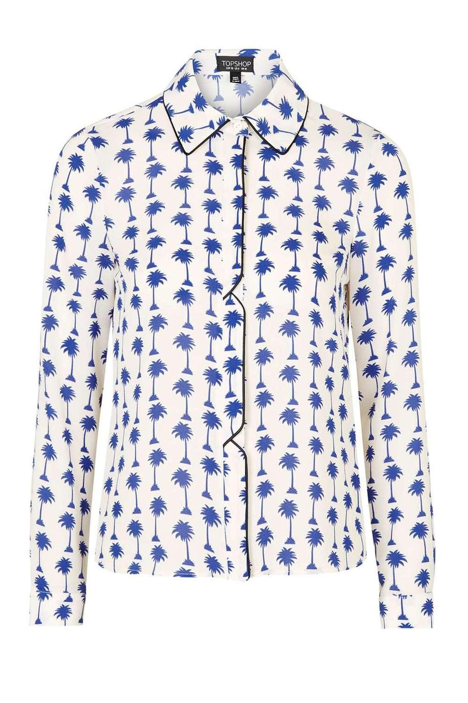 Palm Print Shirt TOPSHOP