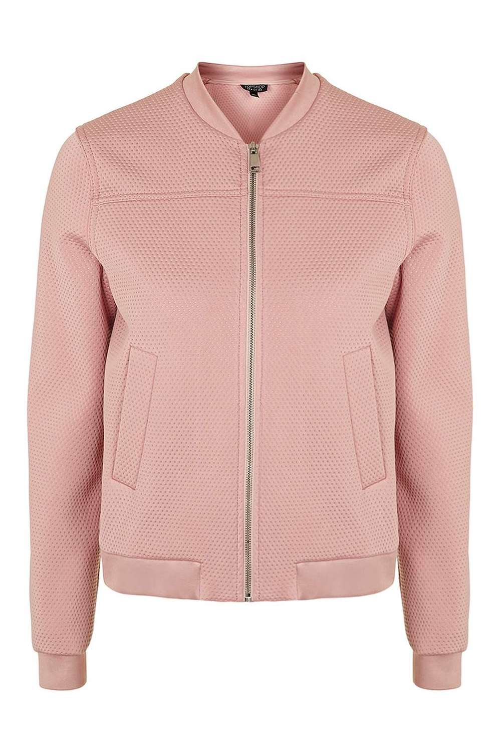 Textured Lightweight Bomber Jacket TOPSHOP