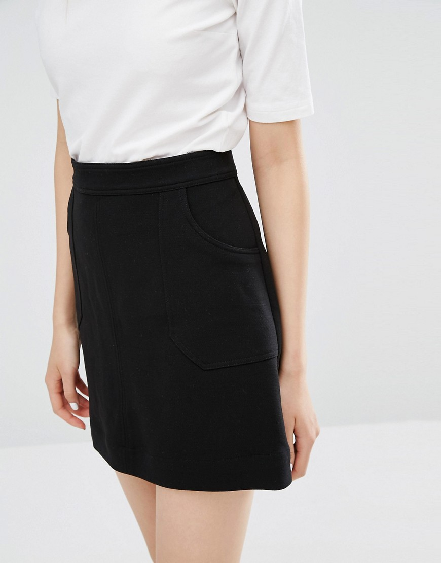Monki A line pocket skirt