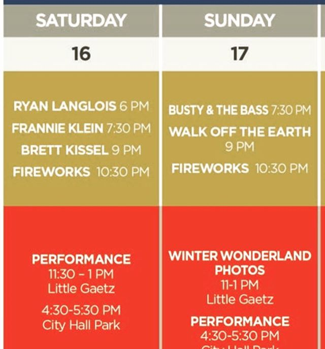 Here's today's & tomorrow's events! We will be OPEN tomorrow, Sun Feb 17th, but closed on Monday for Family Day. . Come visit us before or after all the great music at the 52° North Music Tent. Tonight's headliner is @brettkissel & tomorrow's is @walkofftheearth. Going to be a great couple of nights in @downtownreddeer!! 🥇🥈🥉🎤🎼🎸🥃🍻🥂🍷 #canadawintergames2019 #ttl #reddeer #centralalberta #alberta #downtownreddeer #weekend #canadawintergames #cocktails #opensunday #closedmonday #weekend #longweekend #familydayweekend