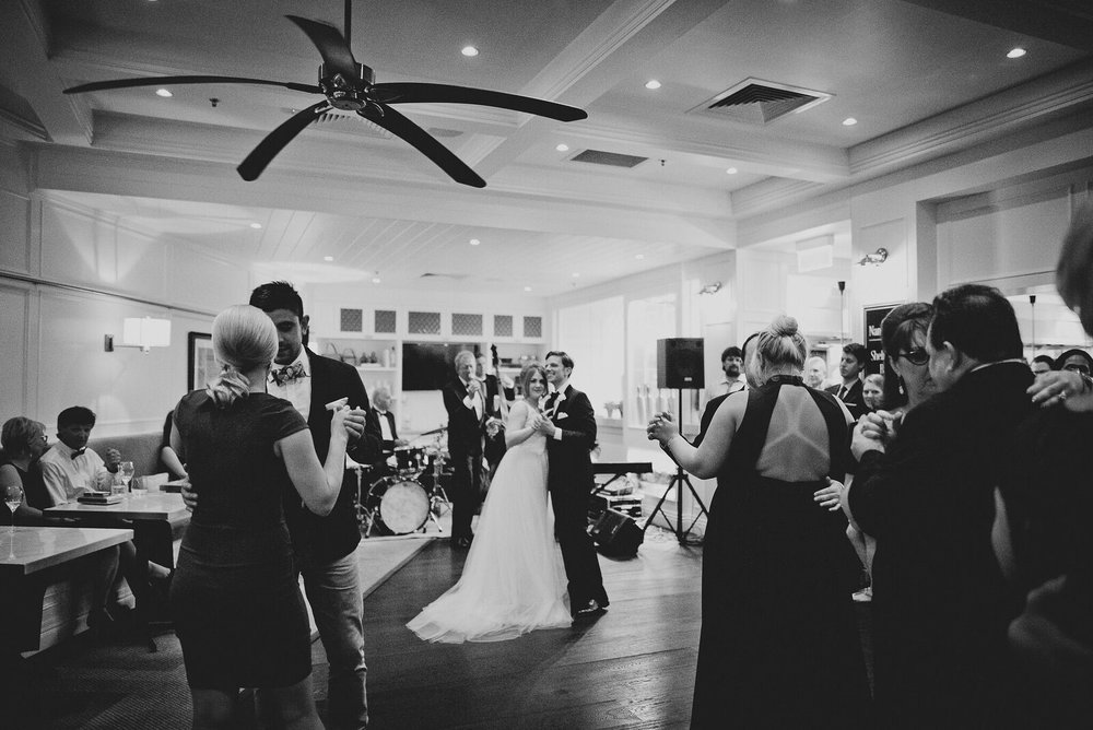 Guests enjoyed dancing and live entertainment at our Brisbane wedding venue