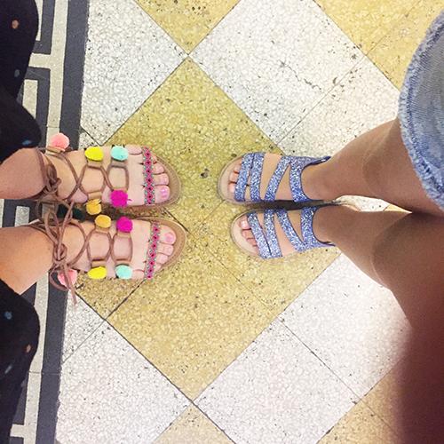 Shoppe-fødder på vej mod is
