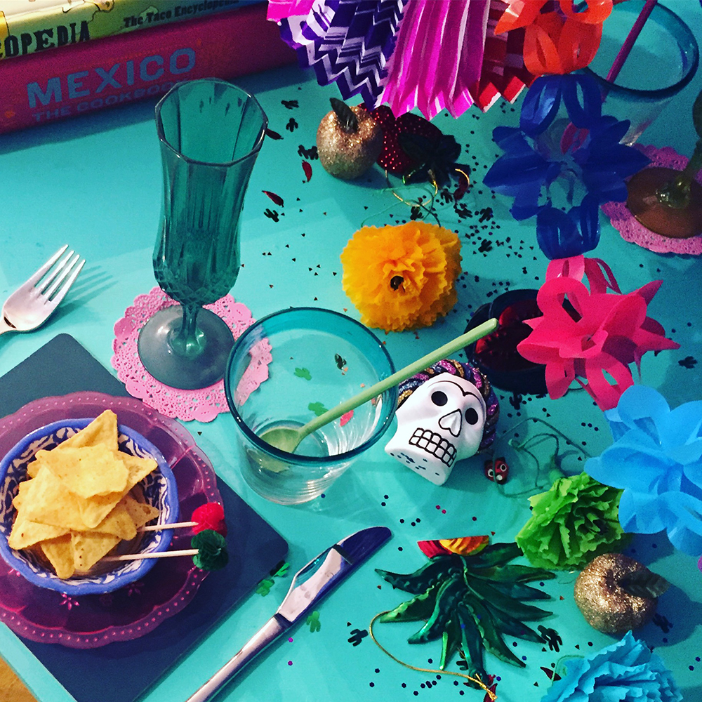 Mexi-inspireret nytårsbord