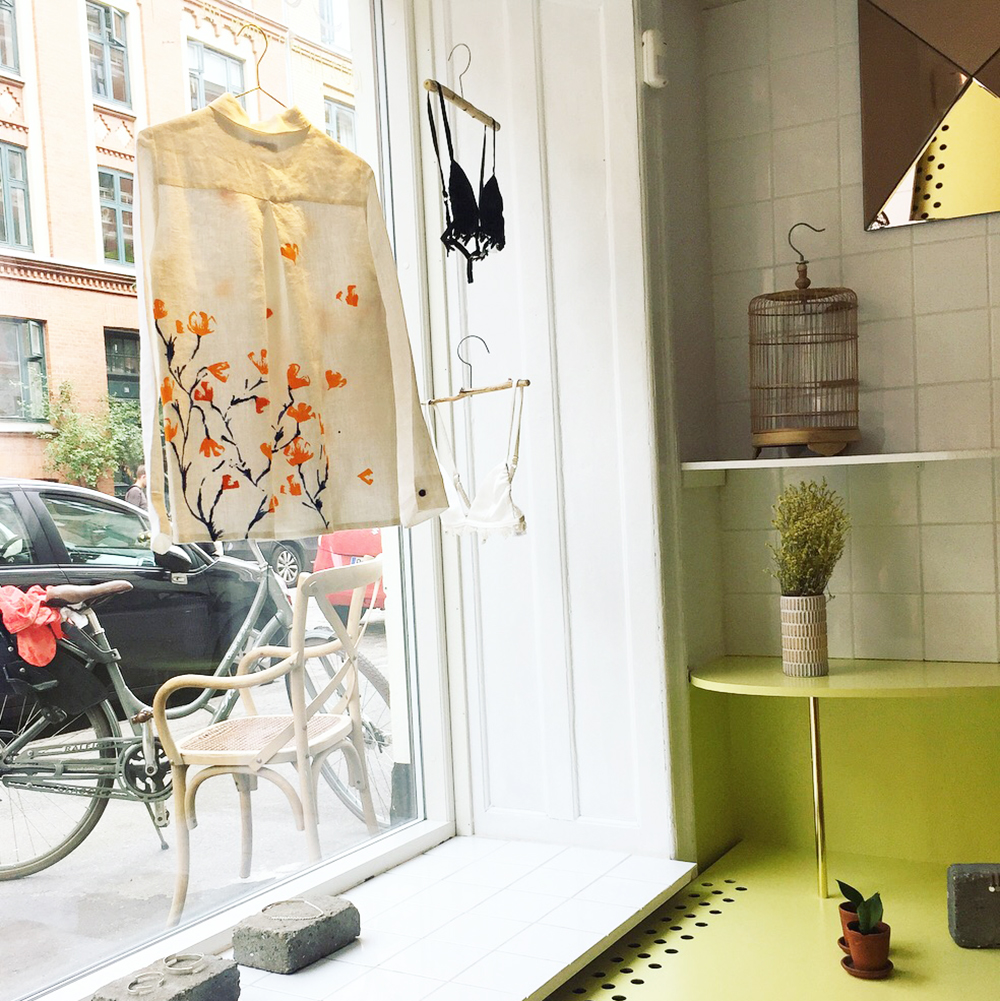 Pop-up-shop med bæredygtigt tøj