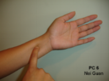 Pericardium 6 acupuncture point