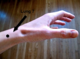 Lung 7 Acupuncture point