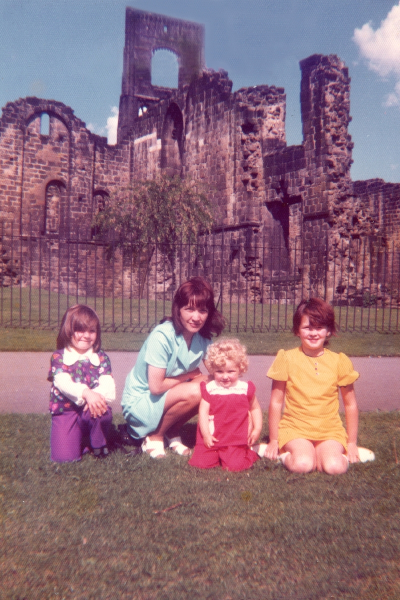 Print what you want to preserve - A photo taken on the Brownie 127 by Dad, showing me, my mum and my 2 sisters at Kirkstall Abbey in Leeds. The photo has been digitally scanned but is much as it was when it was printed in 1973.