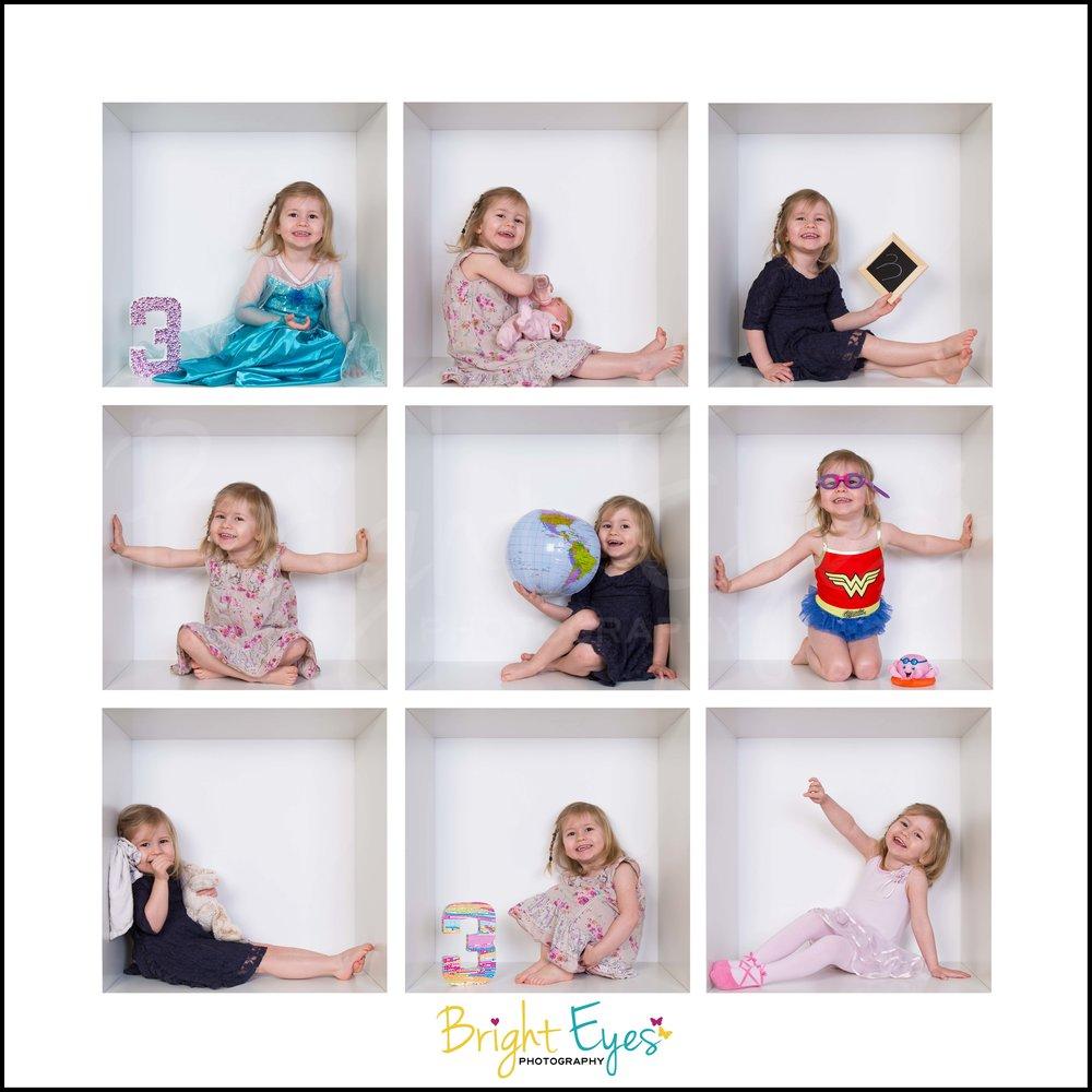white box birthday session family photos hertfordshire