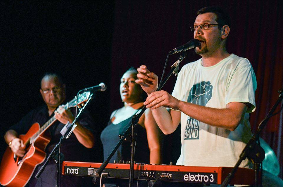 2016 January 22nd The Green Hand Band Performing at our SIXTY THOUSAND YEARS Event at the Captain Cook Hotel.