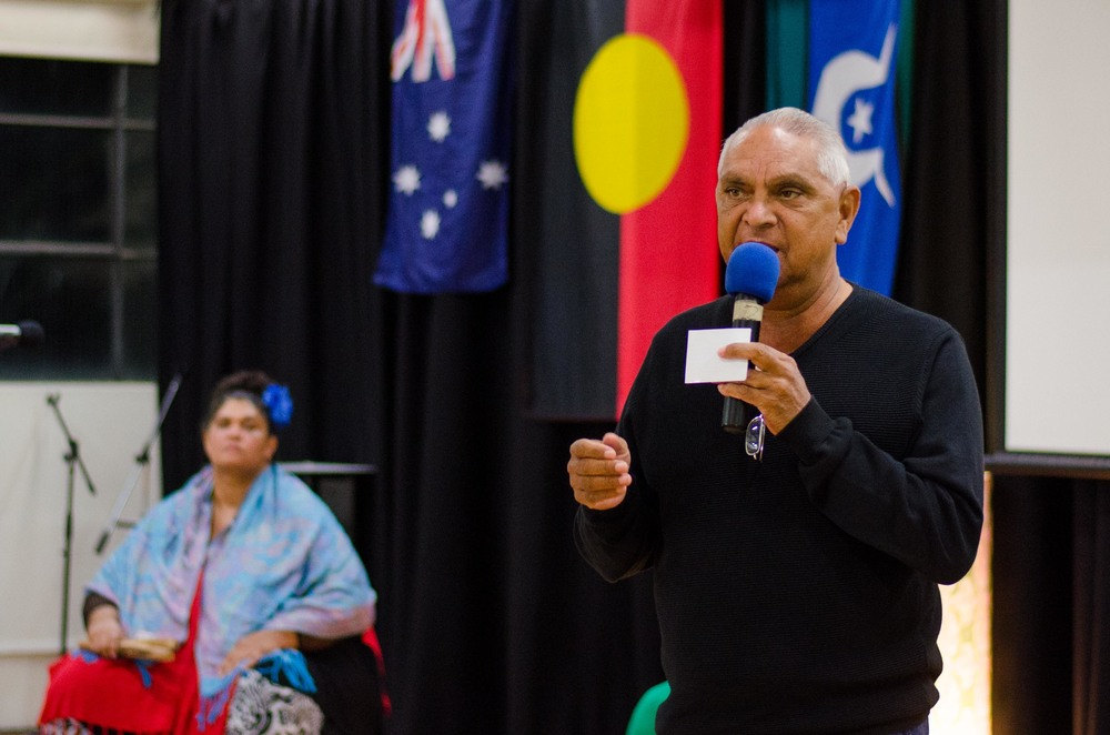 June 3rd Mabo Day at Redfern Community Centre: Welcome to Country by Uncle Raymond Davison from the Metropolitan Local Aboriginal Land Council