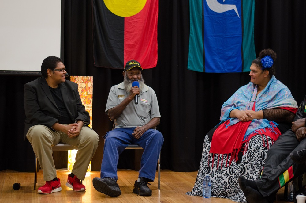 June 3rd Mabo Day at Redfern Community Centre: Torres Strait Islander attendees sharing their story