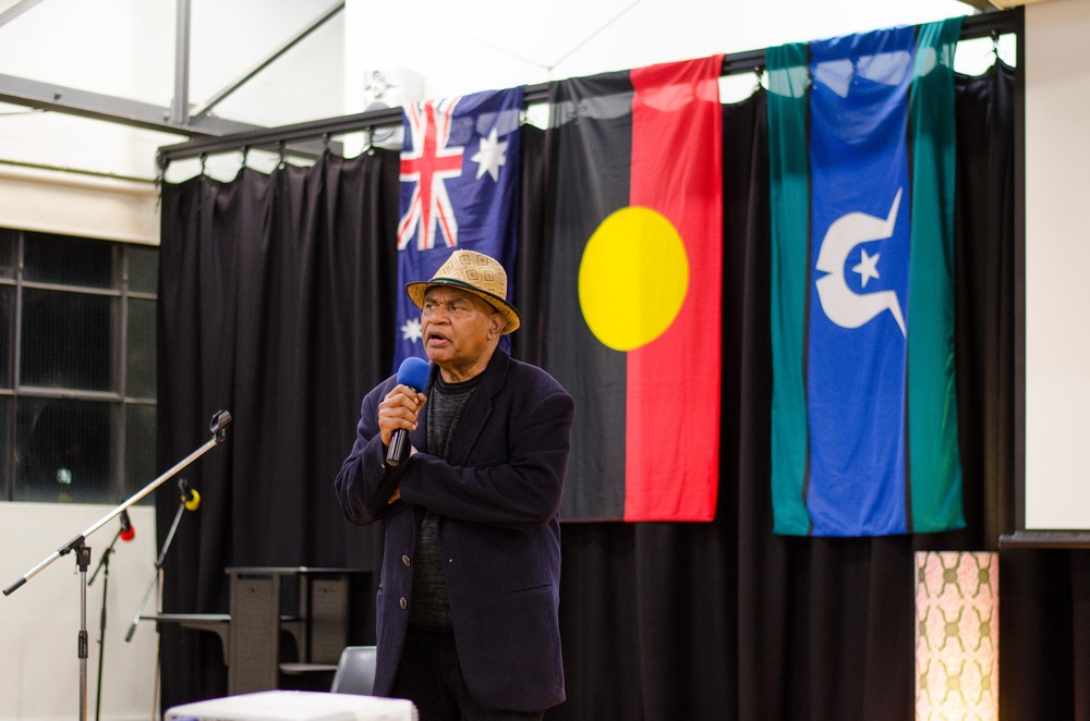 June 3rd Mabo Day at Redfern Community Centre: YARN Cultural Advisor Uncle Graham Mooney sharing his story about Native Title Trusts