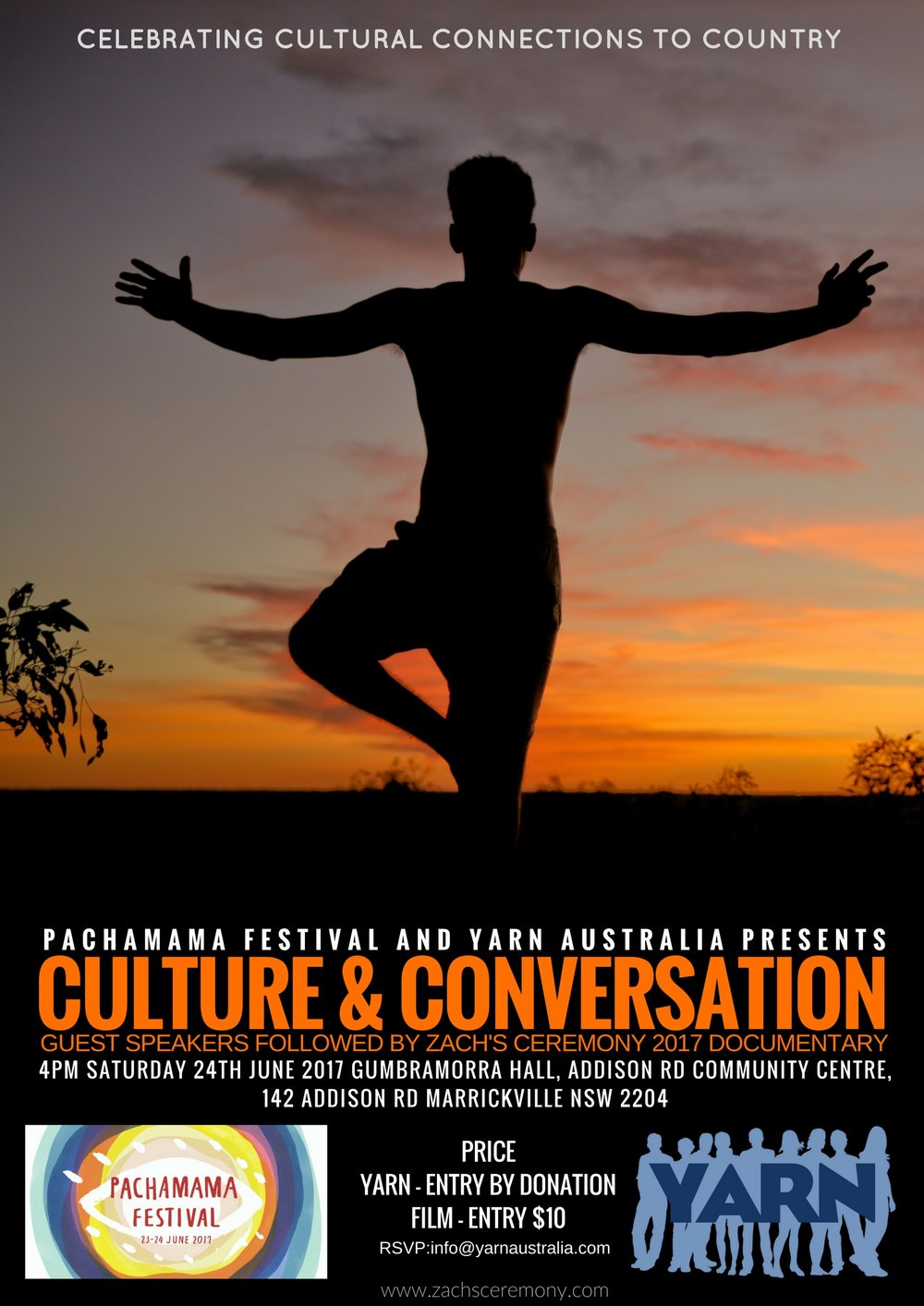2017 JUNE 24TH YARN Australia Partners with Pachamama Festival to host Culture & Conversation and Yarning Circle