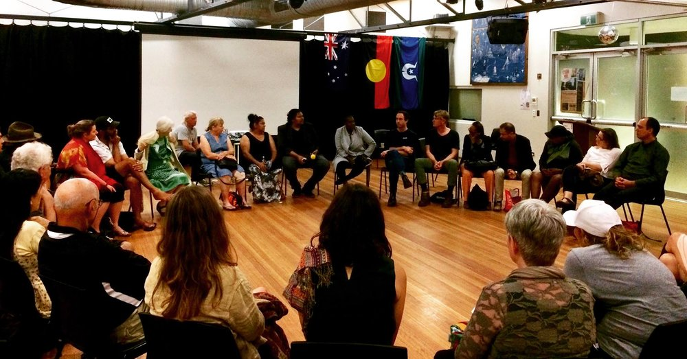 2017 21st November Film Screening Occupation: Native YARN Australia hosted at the event at the Redfern Community Centre. Thanks to Cassie Jackson, and Aunty Lena Quinlin for sharing your stories. See above photo of the many who joined in the YARN Circle and took part in the conversation.