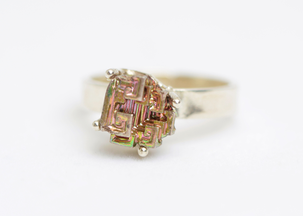 Bismuth & silver ring