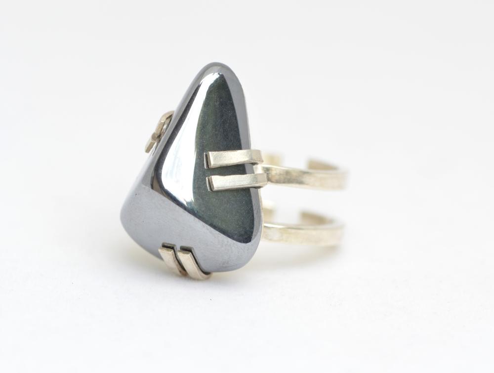 Silicon & silver ring