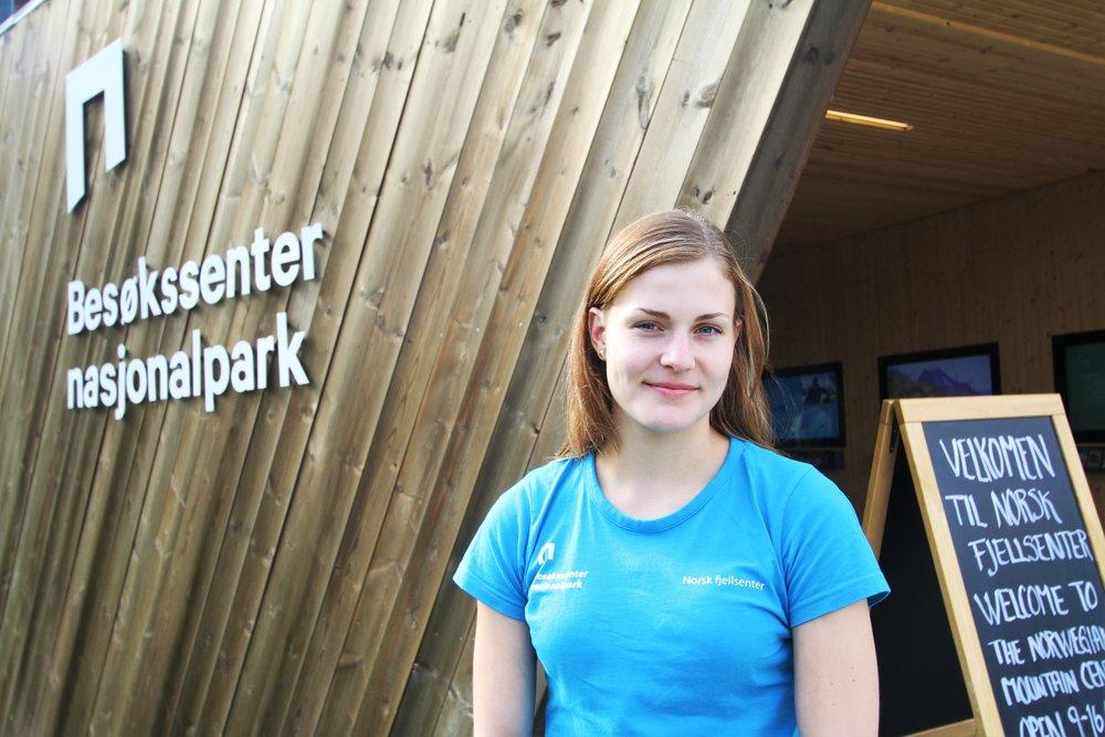 Livia Sauter har gjennom Lærlingkontoret Gudbrandsdalen vore lærling på Norsk fjellsenter i sommar.