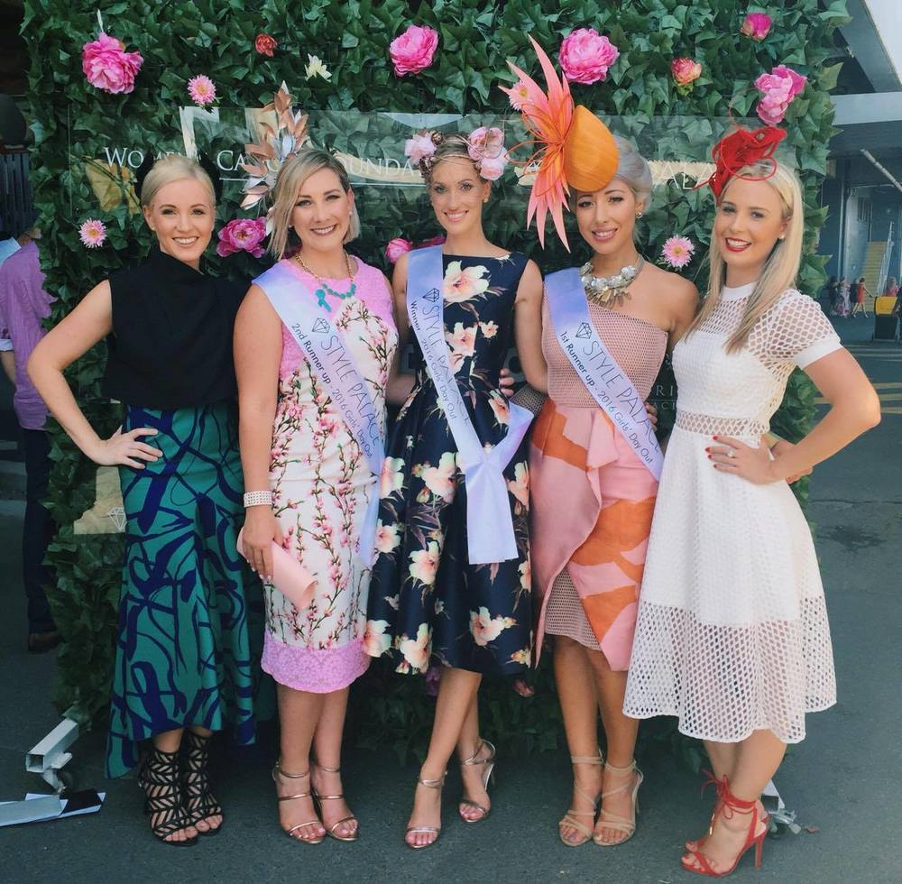Pictured here with judges and winners!  L- R Laura Moss, one of the esteemed judges and owner of Racing Style Nation Myself Lindsay Ridings - Winner  Milano Imai - 1st Runner up Emily Plummer, another of the esteemed judges and fashion blogger @corporatecatwalker