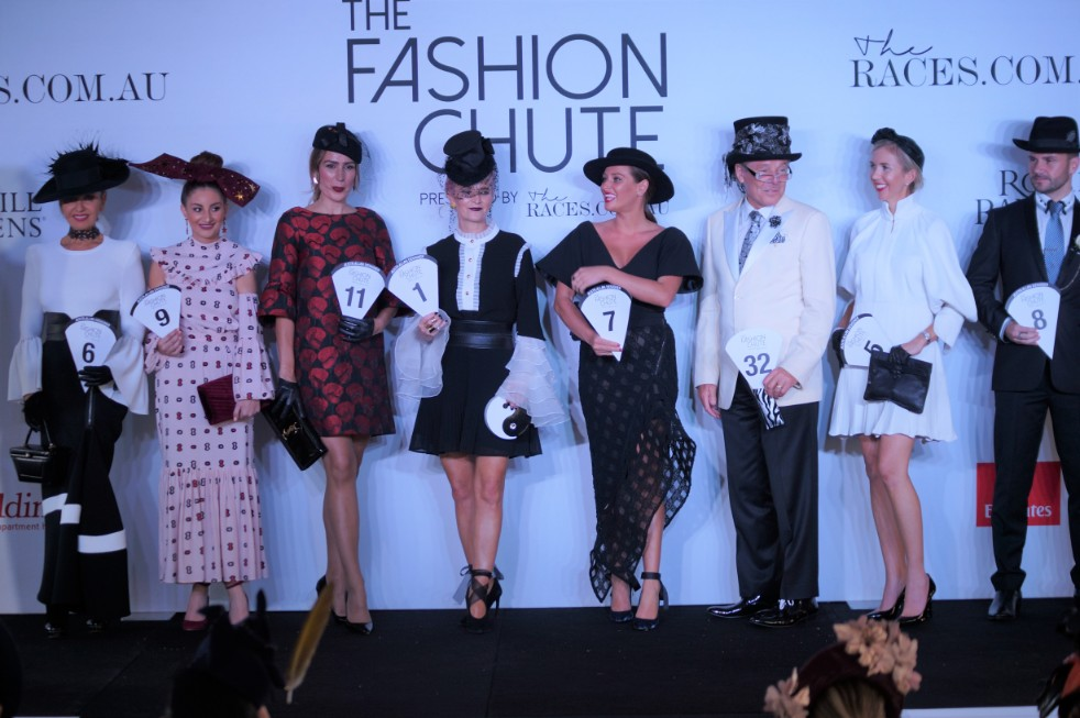 Kash (second from the right) Overall Winner of The Fashion Chute  image: Melissa Barnes of  Racewear Carousel