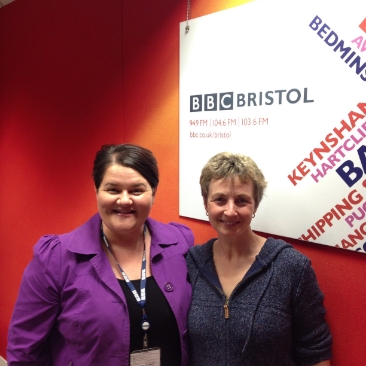 With Emma Britton from Radio Bristol