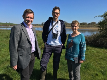 With Conor Macauley, BBC N Ireland regional news and Brad Robson from RSPB