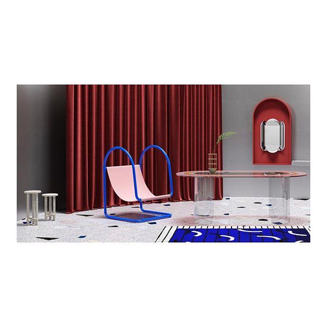 LA SCÈNE • 🔥HUSK STORE IS ONLINE 🔥 • Image credits: @notoostudio Set design: @huskdesignblog • #setdesign #contemporarydesign #3d #furniture #design #interiordesign