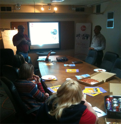 One way of acting on the sales plan: sales presentation to deliver information about new manufacturer products.